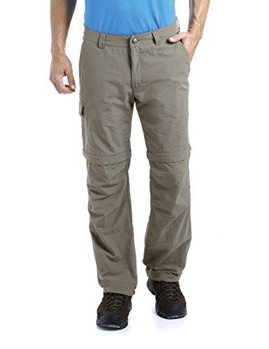 MAIER SPORTS Herren Zipp-Off Hose Trave aus 100% PA in 12 Größen, Funktionshose/ Outdoorhose/ Wanderhose, abzippbar und schnelltrocknend, Braun (teak), Gr. 54