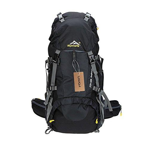 Lixada 45L+5L Wasserabweisend Trekking Rucksack mit Regen Abdeckung
