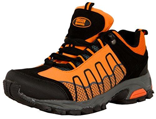 GUGGEN MOUNTAIN, Frauen Trekkingschuhe Damen Wanderschuhe Walkingschuhe Outdoorschuhe Outdoor Schuhe SOFTSHELL T002, Farbe Orange, EU 39
