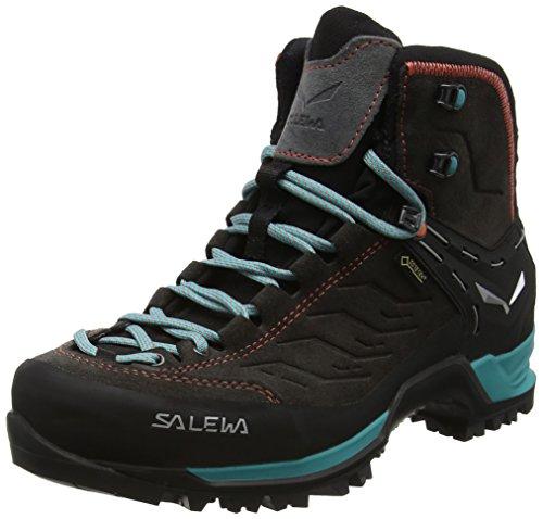 Salewa Damen WS Mtn Trainer Mid Gore-Tex Trekking-& Wanderstiefel, Grau (Magnet/Viridian Green 0674), 40.5 EU