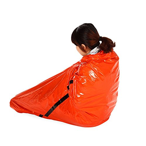 grofitness Notfall Schlafsack Survival Outdoor Decke Thermo Reflektierende kaltem Wetter Shelter Zelt Camping Wandern Multifunktions Matte