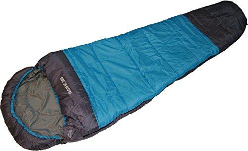 EXPLORER Profi-Mumienschlafsack PACIFIC 300, für Camping, Wandern, Outdooraktivitäten, 3/4 Jahreszeiten, 230x80x55cm, Kragen und Kapuze mit Kordelzug Schlafsack 46506