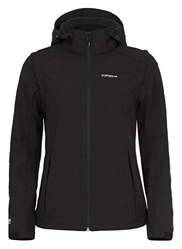 ICEPEAK Damen Softshell Jacket Leonie, Black, 40, 554805682I