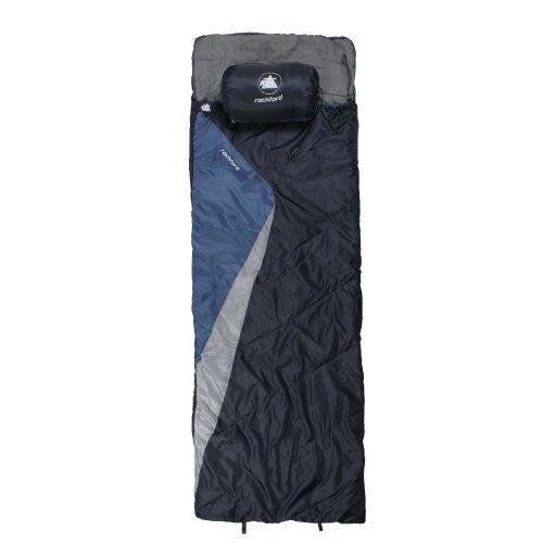 10T Rockfort XL Camping Schlafsack bis -8°C Outdoor Deckenschlafsack 220×800 cm Hüttenschlafsack mit 1500g Trekking Reiseschlafsack für 3 / 4 Jahreszeiten Frühling Sommer Herbst