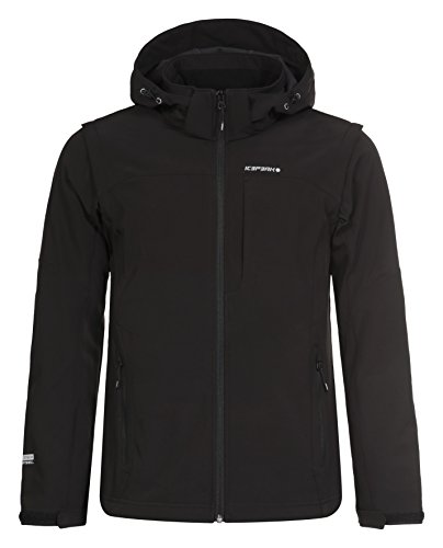 ICEPEAK Herren Softshell Jacket Leonidas, Black, 3XL, 557805682I