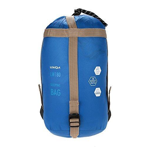 Lixada Umschlag Outdoor Schlafsack Outdoor Sleeping Bag Blau