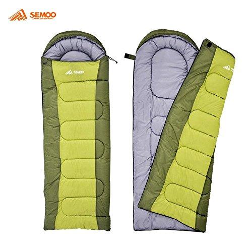 Semoo – Schlafsack – Deckenschlafsack – 3-Jahreszeiten-Schlafsack – 200 x 70 cm – Grün