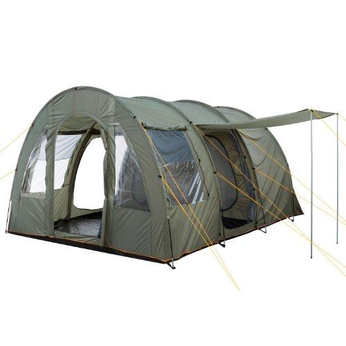 CampFeuer – Großes Tunnelzelt, olivgrün, 5000 mm Wassersäule, Campingzelt