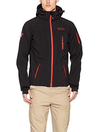 Softshell-Jacke Outdoor-Jacken Herren von Fifty Five – Alert anthracite/red XL – FIVE-TEX Membrane für Outdoor-Bekleidung
