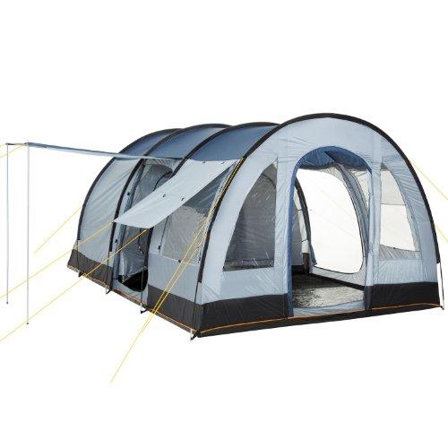 CampFeuer – Großes Tunnelzelt, Blau/Grau, 5000 mm Wassersäule, Campingzelt, Mod. 2015