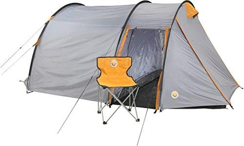 Grand Canyon Robson 3 – Tunnelzelt (3-Personen-Zelt) grau/orange, 302018