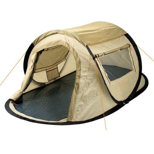 CampFeuer – Sekundenzelt, Wurfzelt, 2 Personen – Quicktent – Creme / Beige