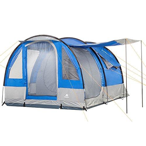 CampFeuer – Tunnelzelt, blau/grau, 4 Personen, Campingzelt