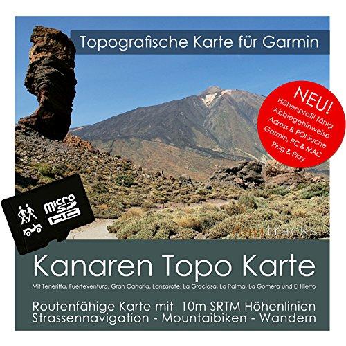 Kanarische Inseln Garmin Karte TOPO 4 GB microSD. Topografische GPS Freizeitkarte für Fahrrad Wandern Touren Trekking Geocaching & Outdoor. Navigationsgeräte, PC & MAC