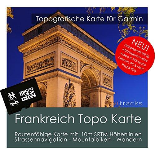 Frankreich Garmin Karte Topo 8GB microSD. Topografische GPS Freizeitkarte für Fahrrad Wandern Touren Trekking Geocaching & Outdoor. Navigationsgeräte, PC & MAC