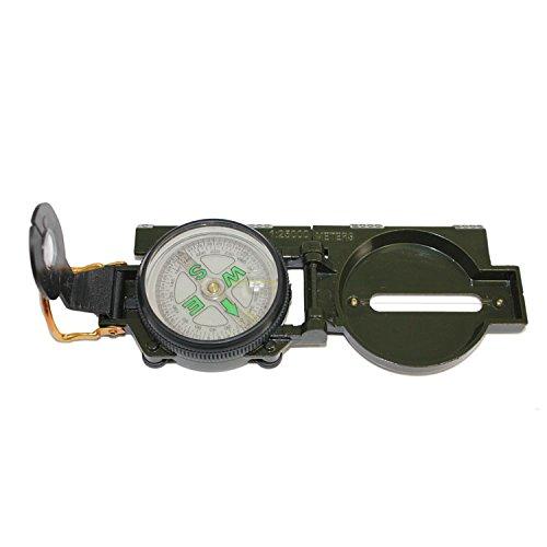 PRECORN Wanderkompass Peil & Marschkompass Taschenkompass Metall Bundeswehr Kompass Militär