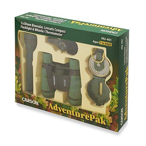 Carson 5×30 AdventurePak Fernglas mit umfangreichem Zubehör für den Outdoor-Einsatz