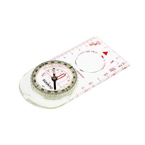 SUUNTO Linealkompass A-30, 360-Grad-Einteilung, Lupe, Deklinationsskala, nachleuchtende Markierungen, Kordel