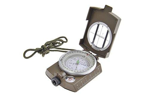 Huntington Kompass MG1 Camo Militär Marschkompass/Peilkompass Premium Qualität – professionell flüssigkeitsgedämpft, Metallgehäuse mit Linsensystem, bundeswehrgrün (K4580-01 DE)