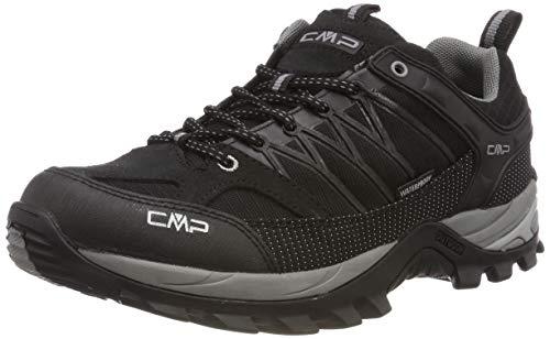 CMP – F.lli Campagnolo Herren Rigel Low Shoe Wp Trekking- & Wanderhalbschuhe, Schwarz (Negro-Grey 73uc), 46 EU