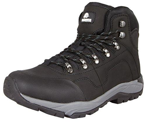 GUGGEN Mountain Herren Wanderschuhe Bergschuhe wasserdicht Outdoor-Schuhe Walkingschuhe M012, Farbe Schwarz, EU 45