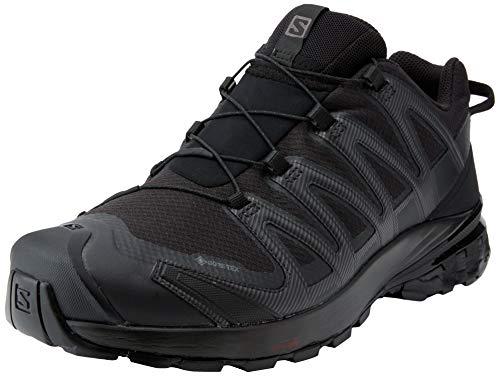 Salomon Herren XA PRO 3D V8 GTX, Leichte Schuhe für Trail Running und Wandern, Wasserdicht, Schwarz (Black/Black/Black), 42 2/3 EU