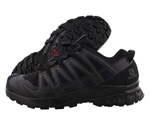 Salomon Herren XA PRO 3D V8, Leichte Schuhe für Trail Running und Wandern, Schwarz (Black/Black/Black),48 EU