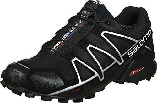 Salomon Herren Speedcross 4 GTX Wasserdicht Traillaufschuhe, Schwarz (Black/Black/SILVER METALLIC-X), 45 1/3