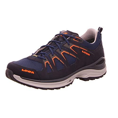 Lowa 310611-6957 Innox Evo Herren GORE-TEX Outdoorschuh aus Textil wasserdicht, Groesse 42, dunkelblau/orange
