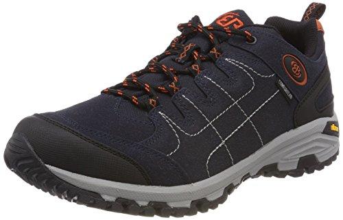 Brütting Mount Shasta Low Trekking- & Wanderhalbschuhe Unisex Erwachsene, Marine/ Orange, 43 EU